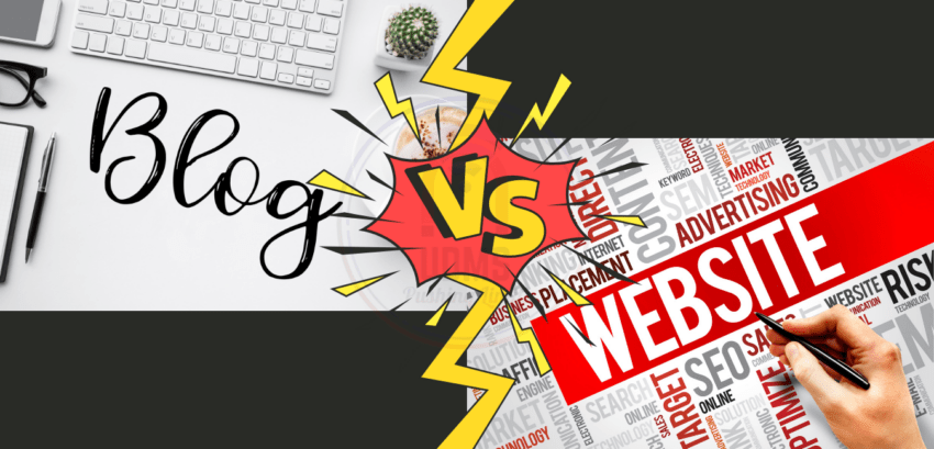 WHAT IS THE DIFFERENCE BETWEEN A BLOG OR A WEBSITE?